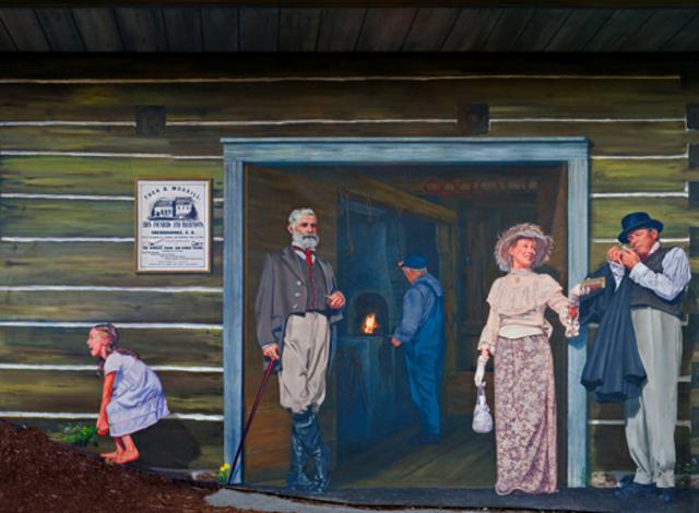 <p>&Agrave; gauche, George Gilman Bryant a fond&eacute; une entreprise de mat&eacute;riaux de construction et travaille dans la construction de maisons d&eacute;montables. Il devient maire en 1889. &Agrave; droite, Horace Taplin est le premier propri&eacute;taire de la fabrique d&rsquo;allumettes.</p>