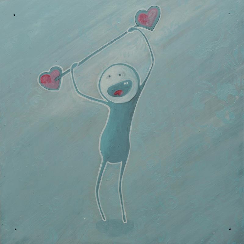 <p>Le panneau de Ultranan, un artiste sherbrookois qui fait ses petits bonhommes un peu partout dans la ville de Sherbrooke avec une touche humoristique. Il traite de sujets politiques ou sociaux. On est bien contents de l&rsquo;avoir dans notre murale.</p>