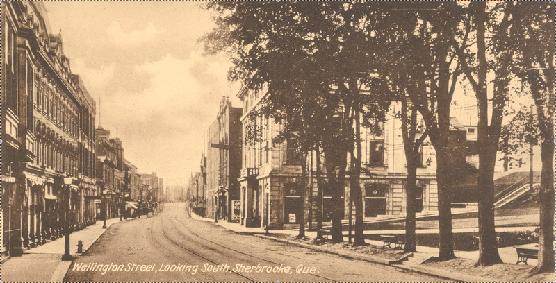 <p>La rue Wellington, sans date.<br /><br />Carte postale</p>