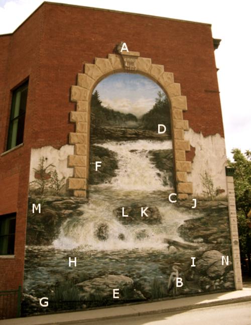 FACILE<br />1 hibou (A), 1 h&eacute;ron (B), 1 raton laveur (C)<br /><br />MOYEN<br />1 Orignal (D), 1 lapin (E), 4 oiseaux (F)<br /><br />DIFFICILE<br />1 grenouille (G), 1 castor (H), 1 visage de lynx (I), 2 mille-pattes (J), 1 femme am&eacute;rindienne avec son b&eacute;b&eacute; (K), 1 dame &acirc;g&eacute;e (L), 1 homme am&eacute;rindien (M), 1 lutin (N)