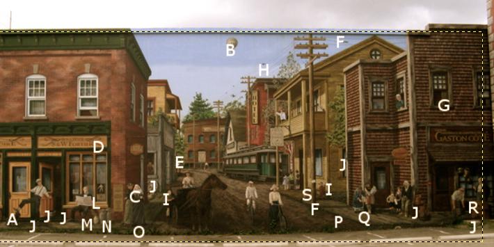 FACILE<br />1 chien (A), 1 montgolfi&egrave;re (B)<br /><br />MOYEN<br />1 poulet (C), 1 nid d&#39;oiseau (D), 1 marmotte (E), 3 &eacute;cureuils (F),&nbsp;1 fer &agrave; repasser (G), oiseaux (H)<br /><br />DIFFICILE<br />3 coccinelles (I), 8 mouches (J), 1 araign&eacute;e (K), 1 papillon (L),&nbsp;1 chenille (M), des fourmis (N), des champignons (O), 1 sauterelle (P), 1 souris (Q),&nbsp;1 grenouille (R), 1 elfe (S)