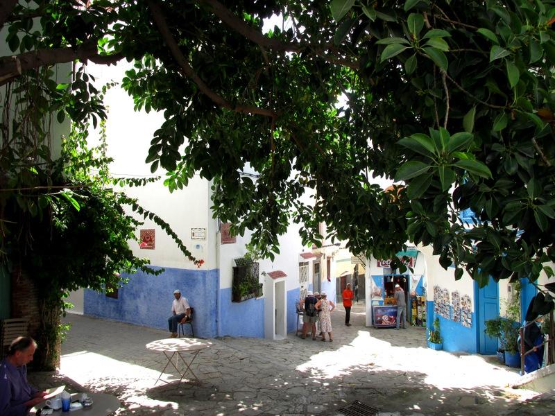 <p>Un peu plus loin, nous apercevons la place du Tador, point de d&eacute;part de notre visite de la Kasbah. L&rsquo;ambiance de ce quartier est tr&egrave;s diff&eacute;rente de celle de la M&eacute;dina.<br /><br />Plusieurs ruelles &eacute;troites et silencieuses partent de cette place et vous invitent &agrave; vous promener dans la kasbah. Vous vous trouverez entour&eacute; de maisons blanches qui cachent une foule de secrets derri&egrave;re la sobri&eacute;t&eacute; de leur fa&ccedil;ade.<br /><br />Certaines maisons ont &eacute;t&eacute; achet&eacute;es par des &eacute;trangers qui ont voulu mettre en valeur leur charme en am&eacute;nageant l&rsquo;int&eacute;rieur dans un style mauresque. Mosa&iuml;ques, patios embellis par des fontaines aux sons envo&ucirc;tants, tapis et autres objets traditionnels, dont la beaut&eacute; est rehauss&eacute;e par la lumi&egrave;re magique du ciel de Tanger, tout cela se trouve aux alentours de la terrasse et vous invite &agrave; la r&ecirc;verie.</p>