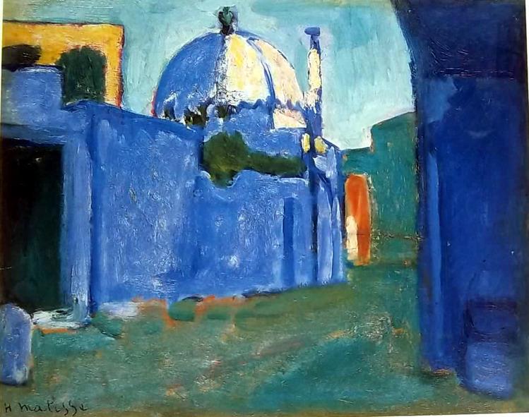 <p>L&rsquo;endroit o&ugrave; nous nous trouvons, le tombeau de Sidi Boukoudja, fut le d&eacute;cor choisi pour son &oelig;uvre Le marabout. Le peintre Matisse aimait repr&eacute;senter les Marocains dans leur cadre de vie, mais il peignait &eacute;galement des paysages, des natures mortes et la flore luxuriante.<br /><br />Matisse &eacute;tait fascin&eacute; par la lumi&egrave;re et les couleurs de Tanger et il affirmait que les voyages au Maroc l&rsquo;aidaient &agrave; reprendre contact avec la nature mieux que ne le permettait l&rsquo;application d&rsquo;une th&eacute;orie vivante comme le &laquo; Fauvisme &raquo;.<br /><br />Henri Matisse est l&rsquo;un des plus importants repr&eacute;sentants de ce courant de peinture &eacute;ph&eacute;m&egrave;re. Il a eu une grande influence sur tout l&rsquo;art du d&eacute;but du XX&egrave;me si&egrave;cle, caracteris&eacute;e par l&rsquo;utilisation de couleurs violentes et vives comme moyen principal d&rsquo;expression des sentiments.</p>