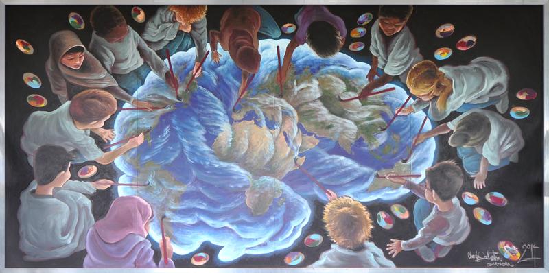 <p>Titre : Remaping nous<br />Artiste: Charlie Johnston (Winnipeg)<br /><br />L&rsquo;id&eacute;e de cette murale est bas&eacute;e sur une exp&eacute;rience de l&rsquo;artiste Charlie Johnston &agrave; Calgary, o&ugrave; il a particip&eacute; &agrave; la r&eacute;alisation d&rsquo;une murale collective avec les &eacute;l&egrave;ves de l&rsquo;&eacute;cole de sciences Langevin. Les personnages que vous voyez sur cette murale sont le reflet de la diversit&eacute; multiculturelle des jeunes de cette &eacute;cole dans un contexte international.</p>