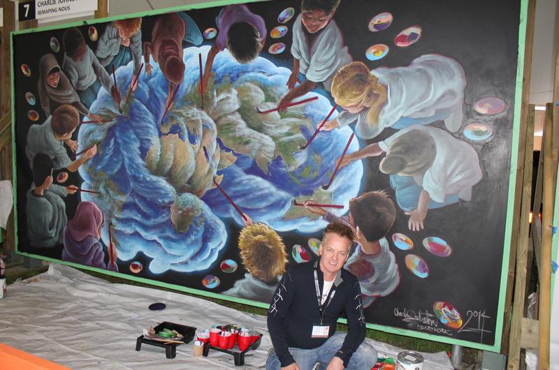 <p>La murale de Charlie: un travail inspirant... et inspir&eacute;.</p>