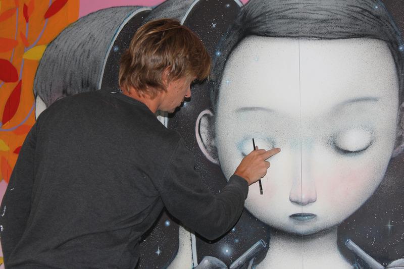 <p>Julien Seth Malland au travail.</p>