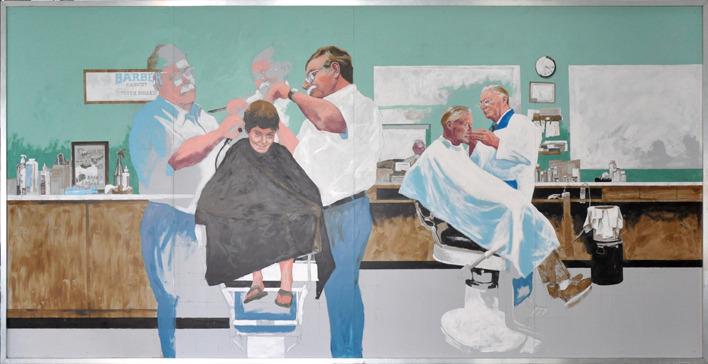 <p>DENIS PALMER<br />Saywerville<br /><br />TITRE / TITLE<br />Les barbiers de Lennoxville / The Lennoxville Barbers<br /><br />PR&Eacute;SENT&Eacute;E PAR / PRESENTED BY<br />Les Peintures De Armond</p>