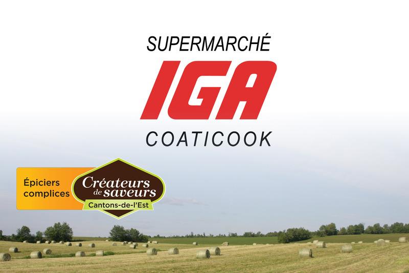 <p>IGA Coaticook<br />265, Child<br />Coaticook, QC<br />J1A 2B5<br />819 849-6226</p>