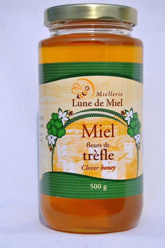 <p>Le classique et toujours tr&egrave;s appr&eacute;ci&eacute; miel de tr&egrave;fle!</p>