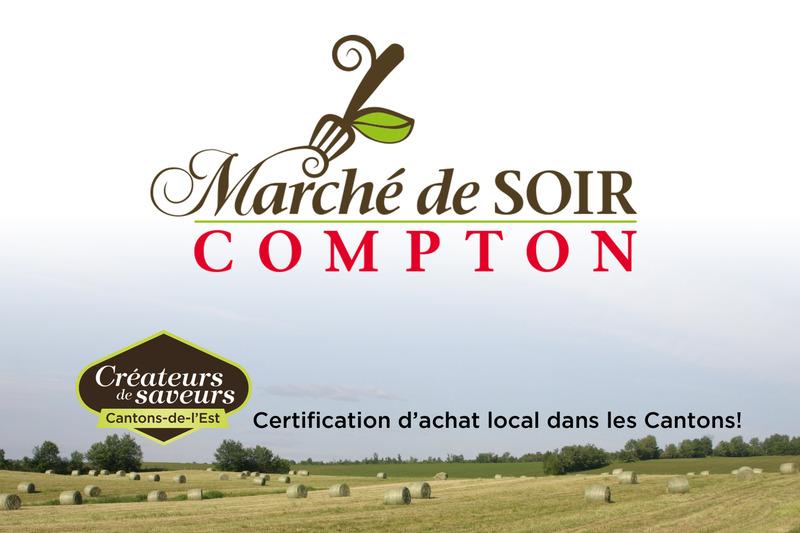 <p>Les jeudis du 2 juillet au 17 septembre<br />16h &agrave; 18h30<br /><br />Cour de l&rsquo;&eacute;glise de Compton<br /><br />819 835-9463<br /><a href='http://www.comptonales.com/fr/marche-public-compton/index.php'>www.comptonales.com</a><br /><br />&nbsp;</p>