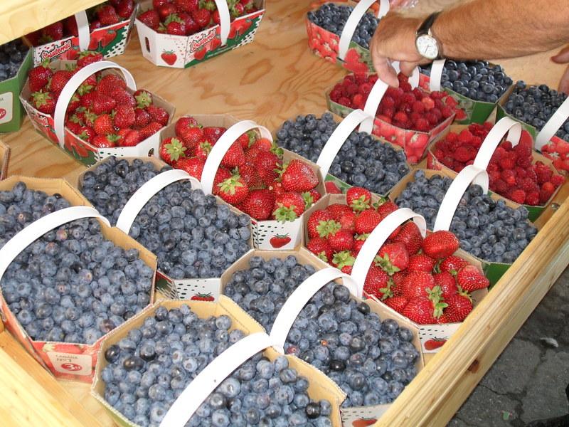 <p>Au march&eacute;, il y a une grande diversit&eacute; de fruits...</p>