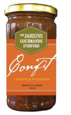 <p>Confit oignon, orange et citrouille<br />Ce d&eacute;licieux confit offre un savoureux &eacute;quilibre entre les sucres des oignons confits, le croquant de la citrouille et le go&ucirc;t acidul&eacute; de l&rsquo;orange. Un favori parmi nos petits pots!</p>
