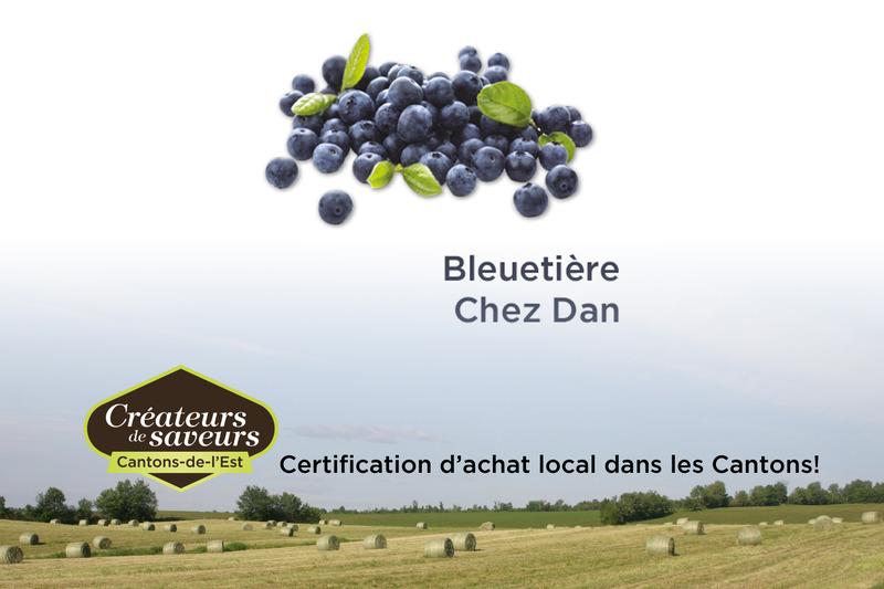 <p>La Bleueti&egrave;re Chez Dan produit huit vari&eacute;t&eacute;s de bleuets en corymbe et deux vari&eacute;t&eacute;s de bleuets nains.</p>