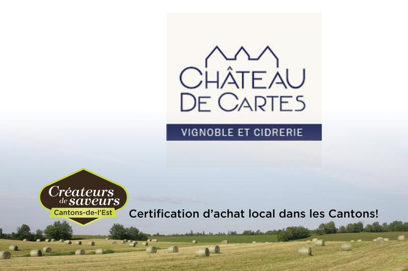 <p>Le Ch&acirc;teau de cartes vous offre une gamme de vins et cidres.&nbsp;</p>