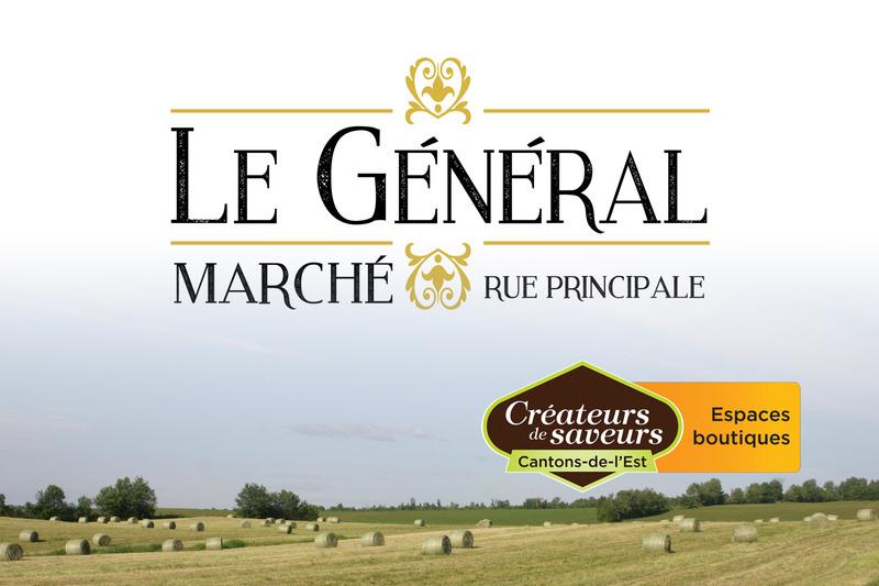 <p>Le G&eacute;n&eacute;ral, March&eacute; rue Principale inc<br />14 principale Nord<br />Windsor<br />J1S 2C2<br /><br />819 845-2300</p>