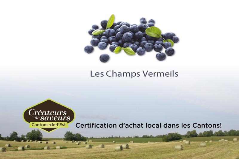 Les Champs Vermeils offre à sa clientèle des bleuets et du sureau en autocueillette et au kiosque sur place.