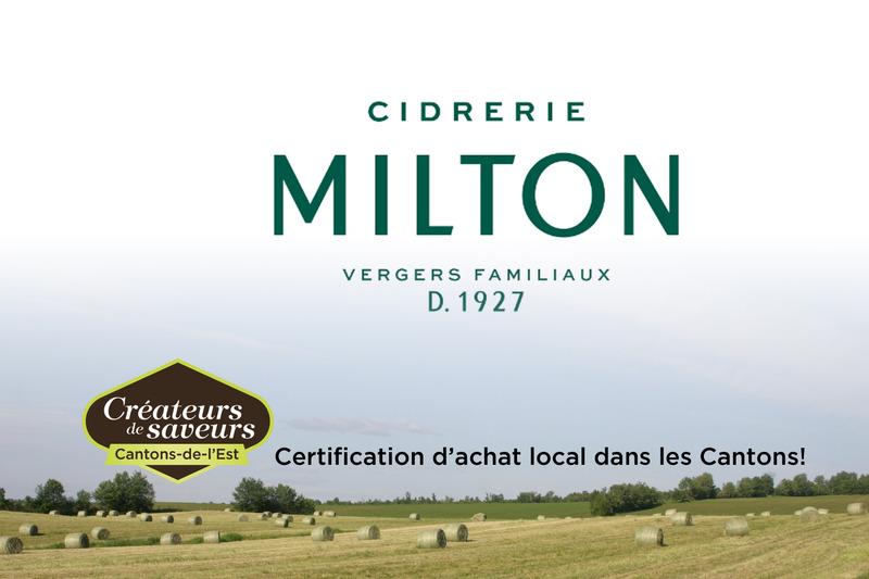 Cidrerie Milton<br />5, route 137<br />Sainte-C&eacute;cile-de-Milton, QC<br />J0E 2C0<br />450 777-2442<br /><a href='http://www.cidreriemilton.com/'>www.cidreriemilton.com</a>