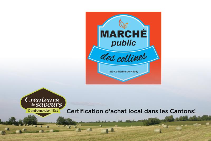 March&eacute; public des collines<br />25 chemin de la Montagne<br />Sainte-Catherine-de-Hatley, Qu&eacute;bec, J0B 1W0<br />819 868-8566<br /><br />Tous les dimanches de juin &agrave; octobre<br />de 9h30 &agrave; 12h30