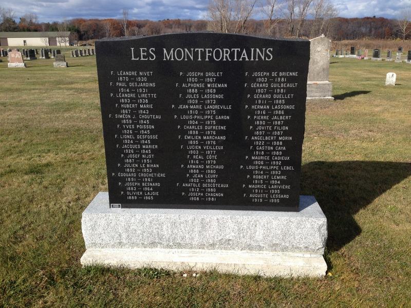 <p>Pierre tombale de la communaut&eacute; des Montfortains<br />Cr&eacute;dit photo : OTNY</p>