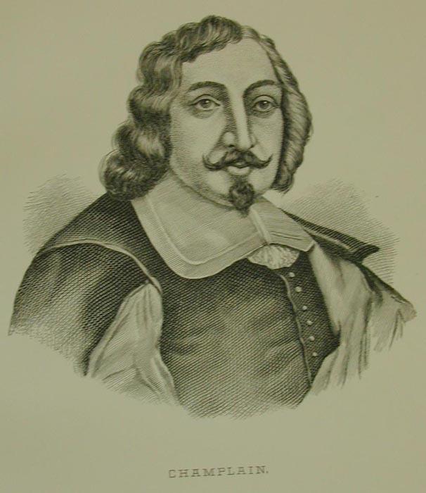 <p>Attribu&eacute;e &agrave; Pierre-Louis Morin, la gravure CHAMPLAIN est dat&eacute;e de 1854.<br /><br />Source:&nbsp;www.er.uqam.ca/nobel/r14310/Sulte/MorinPierreLouis.html</p>