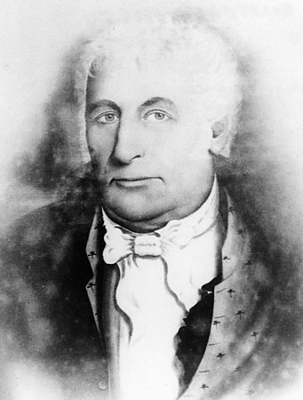 <p>M&eacute;decin militaire du Royal Highlanders (42e Reg.), Simon Fraser s&rsquo;&eacute;tablit &agrave; Terrebonne vers 1807 o&ugrave; il devient major de milice (une des principales autorit&eacute;s civiles) du 2e bataillon de Terrebonne. M&eacute;decin, bourgeois, il est un acteur influent de son &eacute;poque. Il d&eacute;c&egrave;de le 2 f&eacute;vrier 1844 et repose en paix dans ce cimeti&egrave;re.<br /><br />Photo: The Oregon history project<br />Source: disponible sur demande au info@sodam.qc.ca</p>