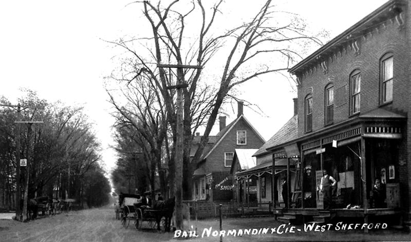 <p>De 1915 &agrave; 1945, le magasin Bail &amp; Normandin du 837, rue Shefford, est un magasin g&eacute;n&eacute;ral fort utile &agrave; toute la population de West Shefford. On y retrouve entre autres le comptoir postal.</p>