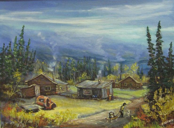 <p>Au d&eacute;but des ann&eacute;es 1950, le chantier naval avait ferm&eacute; ses portes; la route de l&rsquo;Alaska avait &eacute;t&eacute; construite et Whitehorse avait remplac&eacute; Dawson comme capitale du Yukon. C&rsquo;est ainsi que de nouveaux arrivants en qu&ecirc;te de travail dans la nouvelle capitale se sont install&eacute;s sur les berges ouest du fleuve, faute de logements disponibles. Le parc Shipyards s&rsquo;appelait alors Moccasin Flats, et plus en amont se trouvait Sleepy Hollow. Ces &laquo; quartiers &raquo; de squatteurs accueillaient environ 700 personnes en 1966, soit un tiers de la population de la ville.<br /><br />&Agrave; la fin des ann&eacute;es 1960, Moccasin Flats a laiss&eacute; place aux squatteurs de Shipyards. Qualifi&eacute;s de &laquo; hippies &raquo; par les r&eacute;sidents d&rsquo;alors, ils ont &eacute;t&eacute; les derniers &agrave; vivre selon l&rsquo;ancien style de vie yukonnais, sur les berges, jusqu&rsquo;au d&eacute;but des ann&eacute;es 1990 o&ugrave; ils ont &eacute;t&eacute; expuls&eacute;s par la Ville.<br /><br />Photo : Peinture &agrave; l&rsquo;huile de Sleepy Hollow, vue de chez Pat (Lister) Ellis, 1966<br />Cr&eacute;dit photo : Collection Sergent Ron MacLean, peintre Pat (Lister) Ellis</p>