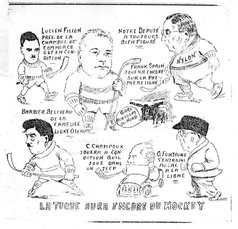 Paul Forrest s&rsquo;est aussi essay&eacute; &agrave; la caricature avec un trait fortement inspir&eacute; par son ma&icirc;tre, le caricaturiste am&eacute;ricain Buel. Il a publi&eacute; ses croquis mordants sur la politique yukonnaise de l&rsquo;&eacute;poque dans le Yukon Sun.<br /><br />Photo : Caricature de Paul Forrest sur la communaut&eacute; de La Tuque, au Qu&eacute;bec<br />Cr&eacute;dit photo : Collection Yann Herry