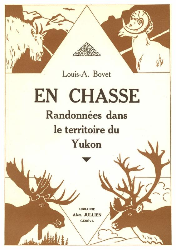 Grand amateur de chasse, Louis Bouvette a r&eacute;alis&eacute; son r&ecirc;ve en 1929 en participant &agrave; une exp&eacute;dition de chasse au gros gibier avec ses amis les fr&egrave;res Jacquot dans la r&eacute;gion de Kluane. Il en a tir&eacute; un r&eacute;cit, &laquo; En Chasse &raquo;, publi&eacute; en 1929.<br /><br />Bouvette a pass&eacute; toute sa vie dans la r&eacute;gion. Il a disparu en 1947 alors qu&rsquo;il faisait une randonn&eacute;e &agrave; cheval; on pense qu&rsquo;il s&rsquo;est noy&eacute; dans la rivi&egrave;re Mayo, mais son corps n&rsquo;a jamais &eacute;t&eacute; retrouv&eacute;.<br /><br />Photo : Couverture du livre &laquo; En Chasse &raquo;<br />Cr&eacute;dit photo : Archives du Yukon<br />&nbsp;