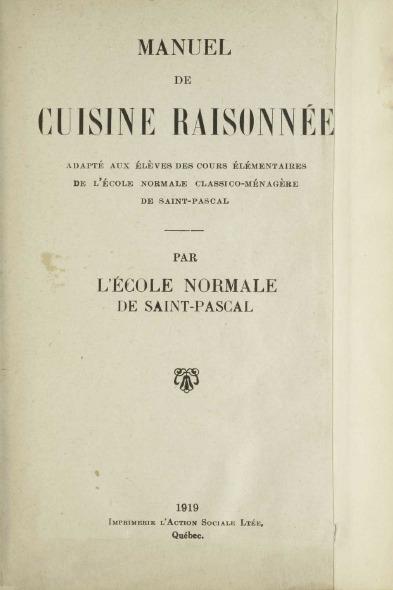 <p>Julia, S&oelig;ur Saint-Albert-de-Rome, a &eacute;t&eacute; tr&egrave;s impliqu&eacute;e dans l&rsquo;&eacute;criture d&rsquo;un classique, le Manuel de Cuisine Raisonn&eacute;e. En effet, elle est coauteure du livre qui &eacute;tait destin&eacute; &agrave; l&rsquo;&eacute;poque aux &eacute;l&egrave;ves des cours &eacute;l&eacute;mentaires de l&rsquo;&Eacute;cole normale classico-m&eacute;nag&egrave;re de Saint-Pascal. Il fait maintenant partie des r&eacute;f&eacute;rences en cuisine partout au Qu&eacute;bec. En 2008, une nouvelle &eacute;dition abr&eacute;g&eacute;e a m&ecirc;me &eacute;t&eacute; publi&eacute;e. &Agrave; son d&eacute;c&egrave;s, la congr&eacute;gation lui a ainsi rendu hommage :<br /><br />&laquo;&thinsp;Il est une autre t&acirc;che, et non la moindre, qu&rsquo;on ne saurait passer sous silence puisque S&oelig;ur Saint-Albert-de-Rome s&rsquo;y d&eacute;voua tout au long de sa vie religieuse : le travail de &ldquo;La Cuisine raisonn&eacute;e&rdquo;. Elle fut sans contredit la principale collaboratrice de v&eacute;n&eacute;r&eacute;e S.S.-Marie-Vitaline dans la pr&eacute;paration, la composition et l&rsquo;impression de la 1re &Eacute;dition, en 1919&thinsp;; par la suite, elle continuera son aide pr&eacute;cieuse jusqu&rsquo;&agrave; l&rsquo;&Eacute;dition de 1964. S&oelig;ur Saint-Albert a not&eacute; : &ldquo;En tout 240&thinsp;000 exemplaires&rdquo;. Et elle ajoute : &ldquo;J&rsquo;esp&egrave;re que les 240&thinsp;000 m&eacute;nag&egrave;res qui ont utilis&eacute; &lsquo;La Cuisine raisonn&eacute;e&rsquo; en ont &eacute;t&eacute; satisfaites et en ont fait profiter leurs familles.&rdquo; Les chiffres parlent d&rsquo;eux-m&ecirc;mes&thinsp;!&thinsp;&raquo;<br /><br />Source : Notice n&eacute;crologique, Julia L&eacute;vesque (S. S.-Albert-de-Rome), vol. III, num&eacute;ro 9, pages 130-131.</p>