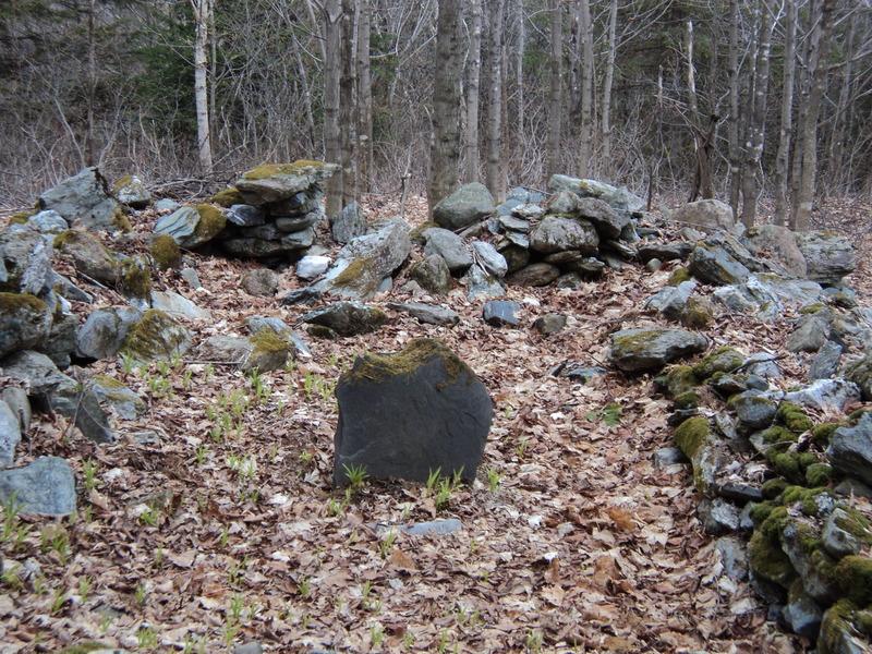 <p>Voici le lieu pr&eacute;cis o&ugrave; se trouvent les sept s&eacute;pultures av&eacute;r&eacute;es. Aujourd&#39;hui, il ne reste aucun monument qui, &agrave; l&#39;&eacute;poque, devaient &ecirc;tre faits en bois. Toutefois, le cimeti&egrave;re du village pr&eacute;sente ce type de monument encore aujourd&#39;hui.&nbsp;<br /><br />Source :&nbsp;Banque d&#39;images de Saint- S&eacute;verin (2013)</p>