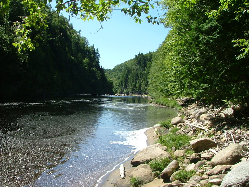 <p>The Mestachibo trail was inaugurated in 2002 as a section of the Trans-Canada Trail. It runs&nbsp; nearly 12 km, from the Saint-Ferr&eacute;ol-les-Neiges church to the Jean Larose waterfall at the foot of the Mont Sainte-Anne. The trail follows the Sainte-Anne River, which it crosses by means of two 70-metre footbridges. It has earned its name, given that &ldquo;mestachibo&rdquo; means &ldquo;great river&rdquo; or &ldquo;having many waterfalls&rdquo; in Huron.<br /><br />Picture: The Sainte-Anne du Nord River at the Mestachibo trail (Denis Lachance. Coll. of Sentier Mestachibo)</p>