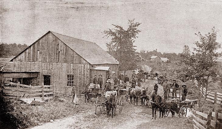 <p>Fromagerie au canton de Roxton.<br />Source: Le Monde illustr&eacute;, vol. 11, no 564, p. 510, 23 f&eacute;vrier 1895.</p>