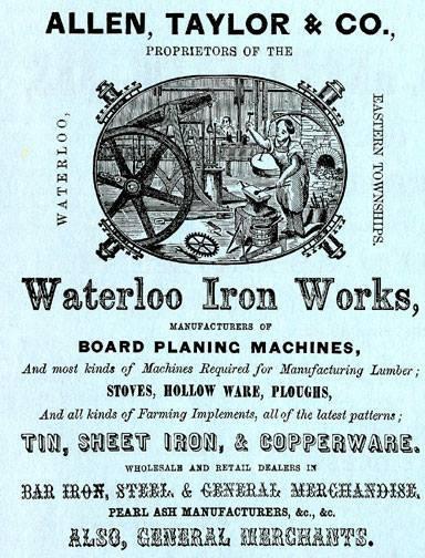 Publicit&eacute; de la&nbsp;Allen, Taylor &amp; Co.<br />Charles Allen et&nbsp;Daniel Taylor sont partis en affaire en 1835.&nbsp;