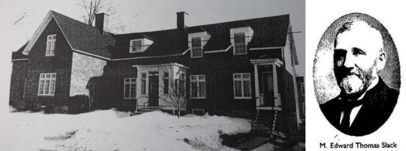 This large residence was built between 1865 and 1869. According to the 1869 assessment roll, it was worth $2,000. Originally, it housed the family of Edward Thomas Slack (1841-1908) and Marion Amelia Ellis (1841-1930). The couple paid the taxes as soon as the house was finished, despite the fact that the land remained the property of Marion&#39;s parents for life.<br /><br />&nbsp;