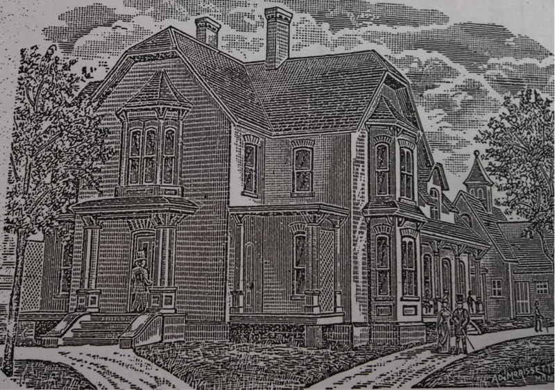 In 1875, when Benjamin Romilly Jameson (1825-?) was a 50-year old physician, he had this magnificent brick residence built for him on Foster Street. After graduating from the Montreal College of Physicians in 1847, Dr. Jameson practiced medicine in Chatham, St-André, Montreal and St-Pie before he finally settled in Waterloo in 1867.