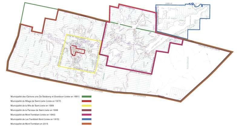 <p>&Eacute;volution municipale de la r&eacute;gion de Mont-Tremblant de 1881 &agrave; 2015.</p>