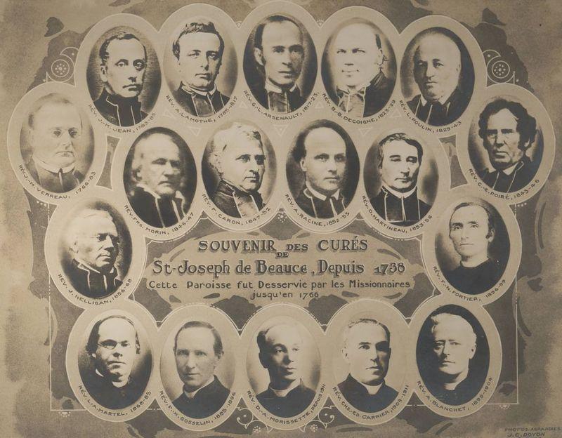 <p>Le cur&eacute;: l&#39;organisateur de la paroisse<br /><br />Joseph Fleury de la Gorgendi&egrave;re est conscient, d&egrave;s son arriv&eacute;e sur les terres de sa seigneurie, qu&rsquo;une colonisation est seulement possible avec une pr&eacute;sence religieuse.&nbsp; &Agrave; l&rsquo;&eacute;poque, le pr&ecirc;tre, devenait un &eacute;l&eacute;ment de support moral et spirituel dans la rude t&acirc;che qu&rsquo;&eacute;tait le d&eacute;frichement d&rsquo;une terre aussi &eacute;loign&eacute;e de la grande ville.<br /><br />Sur la demande du nouveau seigneur, un missionnaire est envoy&eacute;, en 1737, r&eacute;sidant dans la nouvelle paroisse et desservant notamment les deux autres seigneuries de la Beauce : Saint-Fran&ccedil;ois (Beauceville) et Sainte-Marie.&nbsp; Une petite chapelle est d&rsquo;ailleurs rapidement construite pr&egrave;s de l&rsquo;actuel pont de Saint-Joseph, en 1738.<br />Le premier missionnaire r&eacute;sidant est alors le P&egrave;re Fran&ccedil;ois Charpentier, r&eacute;collet (1737-1743) qui a c&eacute;l&eacute;br&eacute; le premier bapt&ecirc;me (1738) ainsi que le premier mariage (1740) et a enterr&eacute; la premi&egrave;re personne d&eacute;c&eacute;d&eacute;e (1939) de la seigneurie.<br /><br />Source: Site web mus&eacute;e virtuel, collection du mus&eacute;e Marius-Barbeau (d&eacute;but du 20&egrave;me si&egrave;cle, 1915)</p>