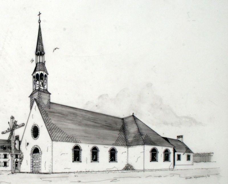 La population augmentant, une deuxième église est contruite en 1705. L'intérieur est richement décoré.