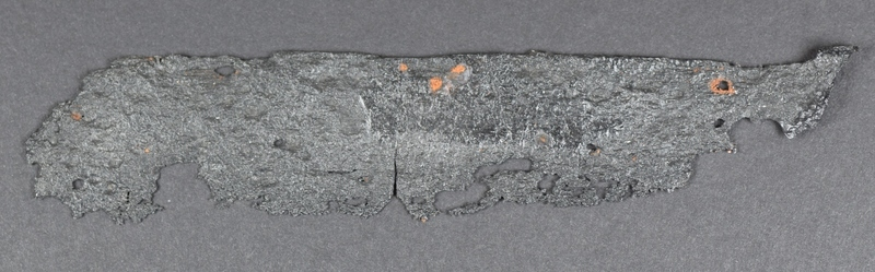 Ce couteau pliant a été retrouvé non loin d'ici. Il s'agit d'un type de canif qui était fréquemment utilisé dans le cadre de la traite des fourrures. On s'en servait pour préparer les peaux.