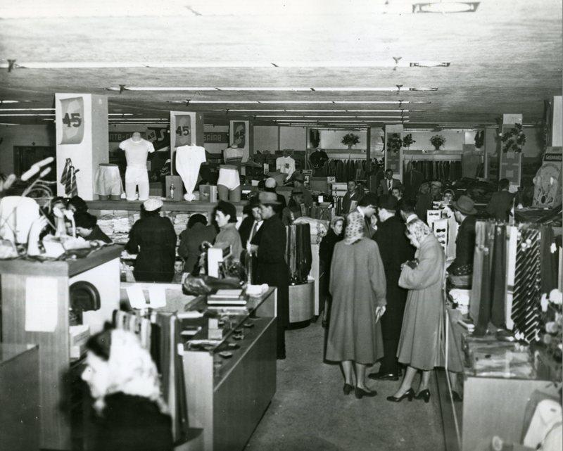 Customers inside A. Setlakwe Store in 1949.<br /><br />Picture source: CART - Fonds Magasin A. Setlakwe Lt&eacute;e
