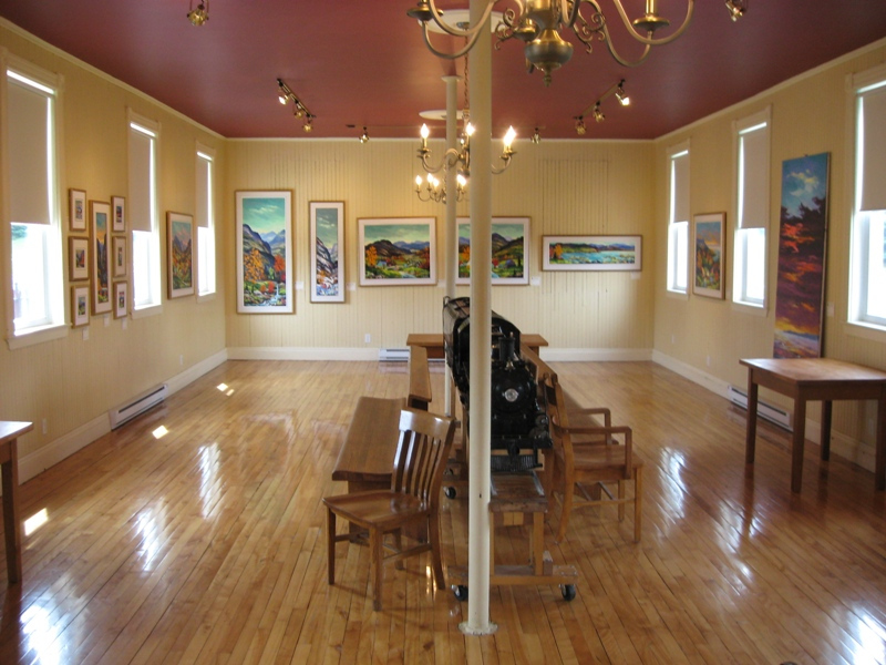 View from the inside of the &quot;Station des arts&quot; in 2010.<br /><br />Picture source: Ville de Thetford Mines