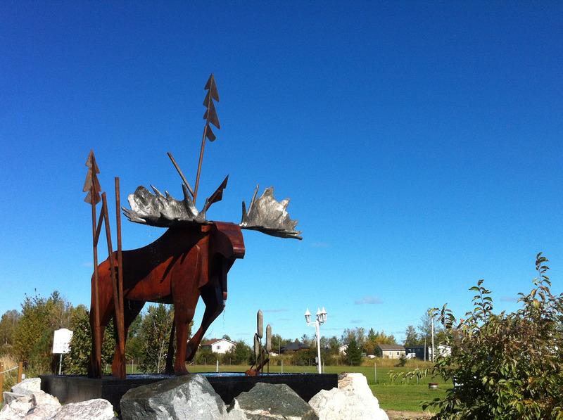 <p>L&rsquo;eau qui s&rsquo;&eacute;coule symbolise les nombreux lacs et rivi&egrave;res qui font partie int&eacute;grante de notre d&eacute;cor et de notre territoire.<br /><br />Oeuvre cr&eacute;&eacute;e par l&rsquo;artiste Paul Salois en collaboration avec Michel Laplante</p>