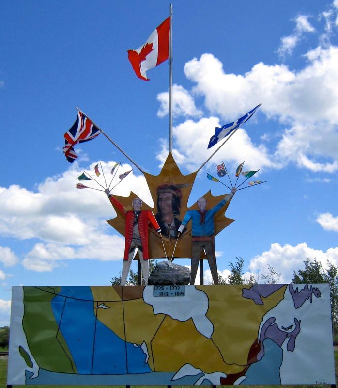 Ce monument est un symbole de l'unité canadienne. Au haut du monument se situe une roche sous laquelle sont inscrites les périodes de deux grandes guerres: 1775-1777 (Guerre d'indépendance des États-Unis, aussi nommée Guerre de 7 ans) et 1812-1814 (Guerre entre l'Angleterre et les États-Unis sur le territoire du Canada). Ces deux guerres sont représentées par des soldats britanniques (en rouge), canadiens-français (en bleu) et des Premières Nations (sur la feuille d'érable).