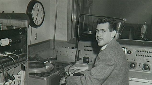 The animator Jacques Mayol in the CHFA's first studio.