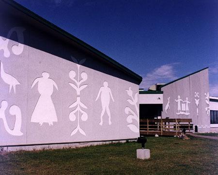 Le musée actuel, avec ses Speck sur les façades avant.
