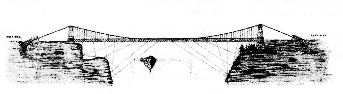 « Bridge of Montmorency, when it was broken, 1829 ». Cette aquarelle a été peinte au moment des évènements décrits, soit la destruction d'une partie du pont, emportée par la crue printanière. Cependant, la section manquante a dû être rapidement remplacée puisque ce n'est qu'en 1856 qu'un second pont fut construit.