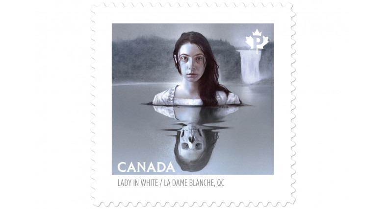 <p>Photo : Le Soleil, 8 septembre 2016. &laquo; La Dame Blanche de la chute Montmorency immortalis&eacute;e &raquo; Normand Provencher. Cette image fait partie de la collection de timbres &laquo; Le Canada hant&eacute; &raquo;.</p>