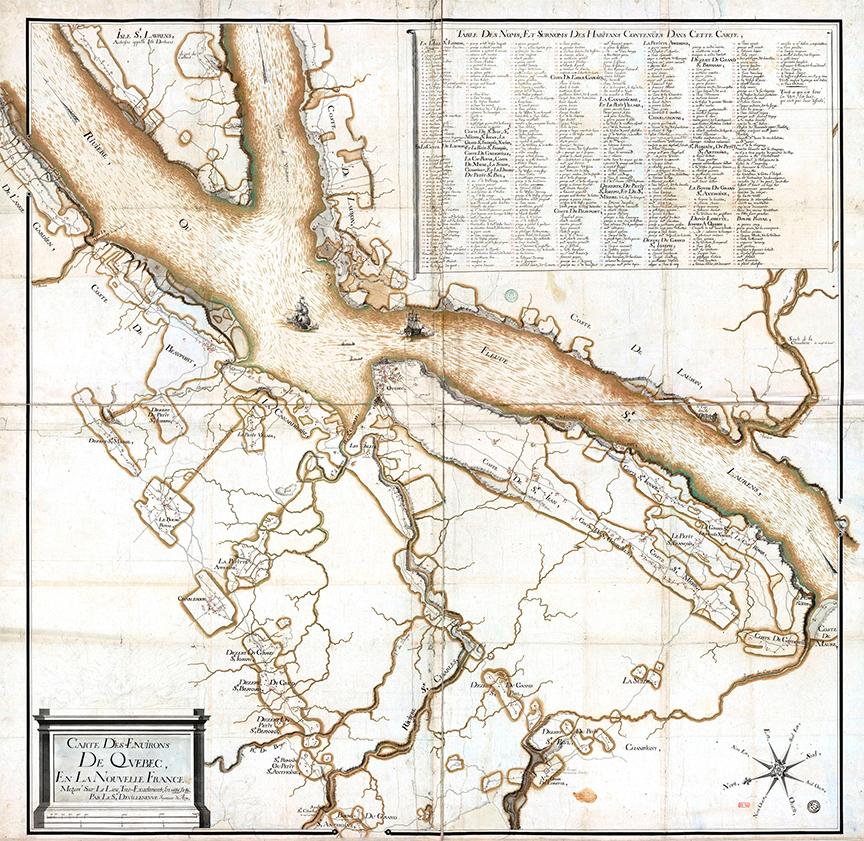 En juin 1759, la guerre de Sept Ans (1756-1763) fait rage et les troupes britanniques entreprennent le si&egrave;ge de Qu&eacute;bec. Leur imposante flotte s&rsquo;installe sur le fleuve Saint-Laurent en face de Beauport.<br /><br />Durant l&rsquo;&eacute;t&eacute;, les troupes britanniques occupent l&rsquo;est du plateau qui surplombe la chute Montmorency et y installent leur campement. Le commandant James Wolfe, de sant&eacute; chancelante, s&rsquo;installe &agrave; la maison V&eacute;zina pendant que ses troupes campent tout autour. Les V&eacute;zina sont expuls&eacute;s, isol&eacute;s &agrave; la rivi&egrave;re Ferr&eacute;e, et r&eacute;ussissent &agrave; survivre gr&acirc;ce aux biscuits de l&rsquo;arm&eacute;e en &eacute;change de pain noir, selon les &eacute;crits de l&#39;abb&eacute; Casgrain en 1902.<br /><br />Pr&egrave;s de la maison, les Britanniques &eacute;tablissent un camp militaire d&eacute;fendu par des redoutes. Le 31 juillet se d&eacute;roule la bataille de Montmorency, qui oppose les troupes de James Wolfe &agrave; l&rsquo;arm&eacute;e fran&ccedil;aise de Louis-Joseph de Montcalm. Cette bataille s&rsquo;av&egrave;re d&eacute;sastreuse pour les Britanniques.<br /><br />Cette d&eacute;faite valu &agrave; Wolfe la perte de la confiance de ses g&eacute;n&eacute;raux. Il d&eacute;cide alors de br&ucirc;ler plus de 1500 b&acirc;timents sur 2000 entre le mois d&#39;ao&ucirc;t et de septembre, et ce, sur les deux rives du Saint-Laurent. La maison V&eacute;zina a &eacute;t&eacute; &eacute;pargn&eacute;e par le g&eacute;n&eacute;ral Wolfe, tout comme les &eacute;glises. Pour la famille V&eacute;zina, il s&#39;agit d&#39;une marque de reconnaissance.<br /><br />Image : Gracieuset&eacute; de Monsieur Michel Cauchon, historien.