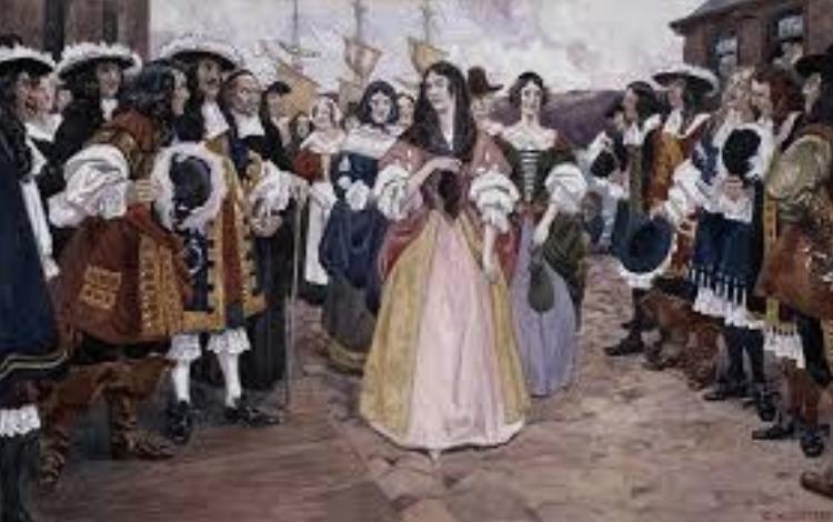 <p>La premi&egrave;re priorit&eacute; de la colonie &eacute;tait de peupler le territoire, lequel ne comptait en 1663 que 2 500 &acirc;mes, dont une &eacute;crasante majorit&eacute; d&#39;hommes. Les 1 200 officiers et soldats du r&eacute;giment de Carignan-Sali&egrave;res, envoy&eacute;s afin de pacifier les relations avec les Iroquois, furent d&rsquo;ailleurs encourag&eacute;s &agrave; s&rsquo;&eacute;tablir en Nouvelle-France lorsque leur campagne militaire fut termin&eacute;e, ce que pr&egrave;s du tiers d&rsquo;entre eux ont fait. Afin d&#39;am&eacute;liorer la balance des sexes, le roi a donc financ&eacute; l&#39;envoi de femmes c&eacute;libataires, qui furent d&eacute;nomm&eacute;es&nbsp;&laquo; les Filles du Roy &raquo;. Celles-ci sont venues en Nouvelle-France afin de trouver un &eacute;poux, ce qui eu pour cons&eacute;quence directe d&rsquo;accro&icirc;tre rapidement la d&eacute;mographie gr&acirc;ce &agrave; la hausse des naissances qui s&rsquo;ensuit. Le syst&egrave;me seigneurial fut r&eacute;organis&eacute; par l&rsquo;intendant dans les m&ecirc;mes ann&eacute;es afin de distribuer et d&rsquo;exploiter les terres.<br /><br />Source : http://www.patrimoine-culturel.gouv.qc.ca/rpcq/detail.do?methode=consulter&amp;id=26366&amp;type=pge#.WCy3rfnhDic</p>